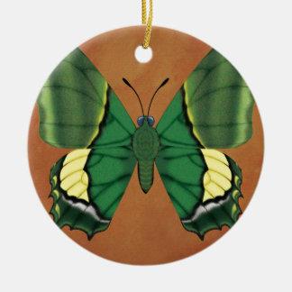 Kaiser von Indien-Schmetterling Rundes Keramik Ornament