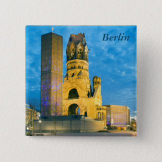 Kaiser Wilhelm Erinnerungskirche, Berlin Quadratischer Button 5,1 Cm