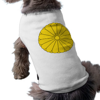 KaiserSiegel von Japan - 菊花紋章 Ärmelfreies Hunde-Shirt