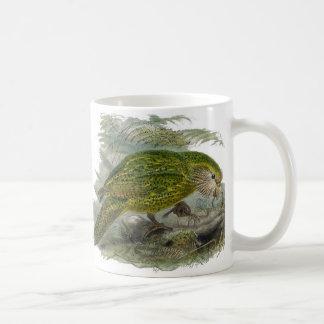 Kakapo-grüner Papageien-Vintage Illustration Tasse