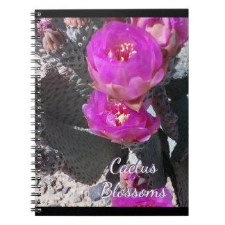 Kaktus-Blüten-Entwurf Spiral Notizblock