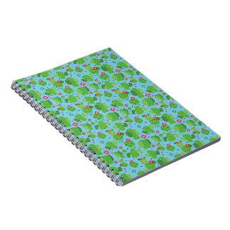 Kaktus ich Außenseiten-(blau) - Notizbuch Spiral Notizblock