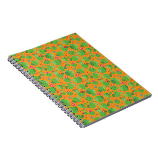 Kaktus ich Außenseiten-(orange) - Notizbuch Notizblock