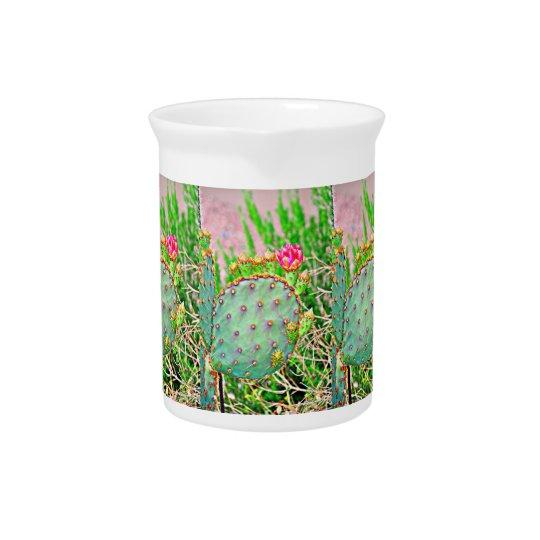 Kaktus mit rosa Blumen-Porzellan-Krug Getränke Krüge