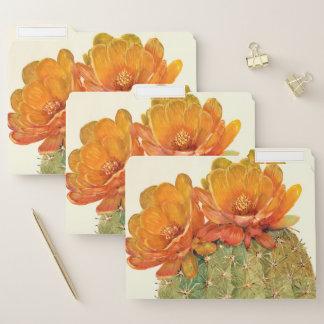 Kaktus-Orangen-Blüten Papiermappe