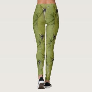 Kaktusstichel-Druckgamaschen der Neuheit grüne Leggings