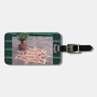 Kalas Vasen-Hakenkreuz rangoli indische Hochzeit Gepäckanhänger