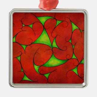 Kalatonius V1 - extravaganter Weinstock Quadratisches Silberfarbenes Ornament