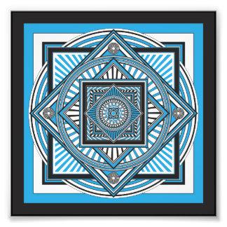 Kaleidoskop BLAU Fotografischer Druck