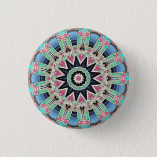 Kaleidoskop-BlumenMandala in Wien: Ed. 220,9 Runder Button 2,5 Cm