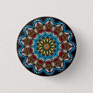 Kaleidoskop-BlumenMandala in Wien: Ed. 221,7 Runder Button 3,2 Cm