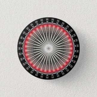 Kaleidoskop-Mandala in Wien: HBF Muster Runder Button 2,5 Cm