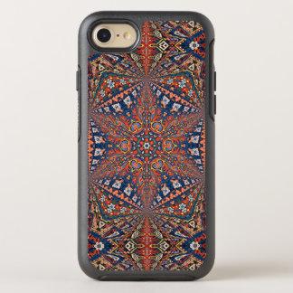 Kaleidoskopischer armenischer Teppich in Rotem und OtterBox Symmetry iPhone 8/7 Hülle