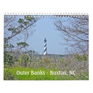 Kalender - äußere Banken - Buxton NC