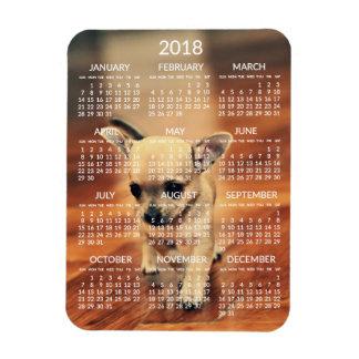 Kalender-Foto-Magnet 3x4 des Chihuahua-2018 klein Magnet