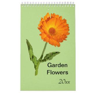 Kalender - Singleseite - Garten-Blumen Wandkalender