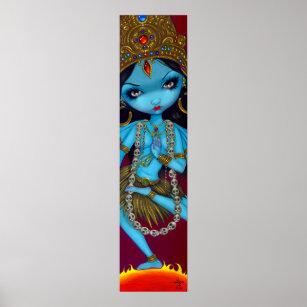 Kali hindische Göttin gotischer Kunst-Druck Poster