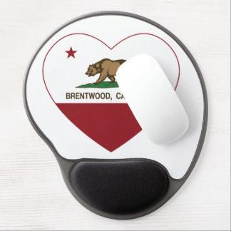 Kalifornien-Flagge brentwood Herz Gel Mouse Matte