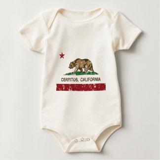 Kalifornien-Flagge cerritos beunruhigt Baby Strampler