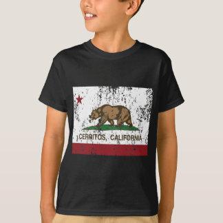 Kalifornien-Flagge cerritos beunruhigt T-Shirt