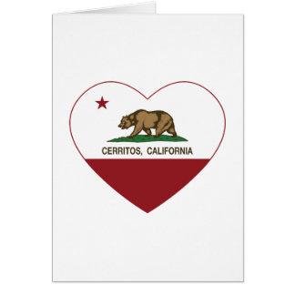 Kalifornien-Flagge cerritos Herz Karte