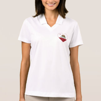 Kalifornien-Flagge cerritos Herz Polo Shirt