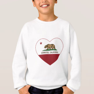 Kalifornien-Flagge cerritos Herz Sweatshirt