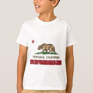 Kalifornien-Flagge ferndale beunruhigt T-Shirt