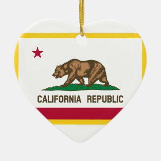 Kalifornien-Flagge Keramik Ornament