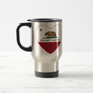 Kalifornien-Flagge Twain harte Herz Reisebecher