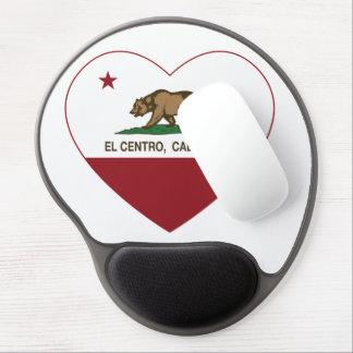 Kalifornien-Flaggen-EL centro Herz Gel Mouse Matten