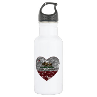 Kalifornien-Flaggenrepublikkohlenstoff-Faserherz Trinkflaschen