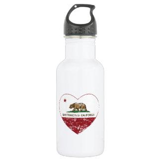 Kalifornien-Flaggensan francisco Herz beunruhigt Trinkflasche