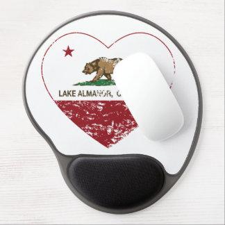 Kalifornien-Flaggensee almanor Herz beunruhigt Gel Mouse Matte