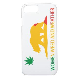 Kalifornien-Frauen Unkraut und Wetter-Flagge iPhone 8/7 Hülle