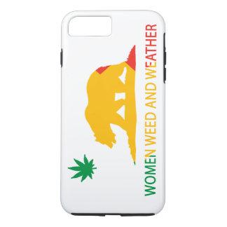 Kalifornien-Frauen Unkraut und Wetter-Flagge iPhone 8 Plus/7 Plus Hülle