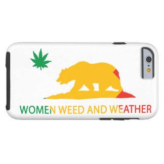 Kalifornien-Frauen Unkraut und Wetter-Flagge Tough iPhone 6 Hülle