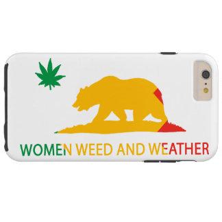 Kalifornien-Frauen Unkraut und Wetter-Flagge Tough iPhone 6 Plus Hülle