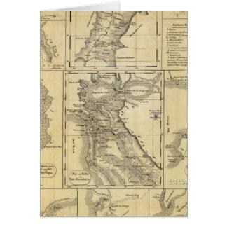 Kalifornien-Goldrausch Karte