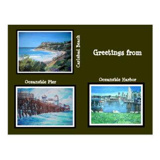 Kalifornien-Grüße - Postkarte