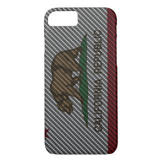 Kalifornien-Kohlenstoff-Faser iPhone 8/7 Hülle