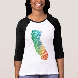 Kalifornien-Liebe-gebürtiges buntes Shirt