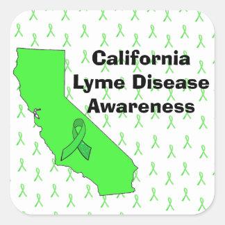 Kalifornien-Lyme-Borreliose-Bewusstseins-Aufkleber Quadratischer Aufkleber