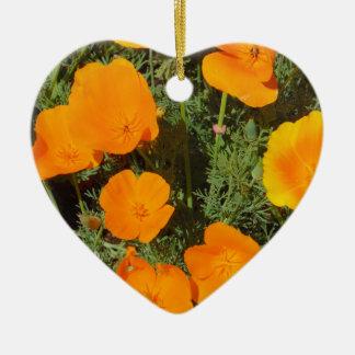 Kalifornien-Mohnblume Keramik Ornament