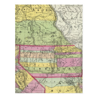 Kalifornien, Oregon, Washington, Utah, New Mexiko Postkarte
