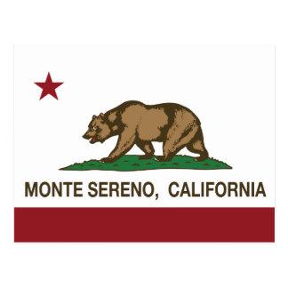 Kalifornien-Republik-Flagge Monte Sereno Postkarte