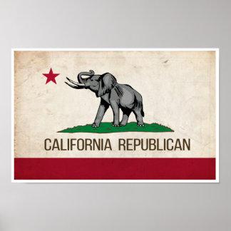 Kalifornien republikanisches GOP-Plakat Poster
