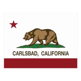 Kalifornien-Staats-Flagge Karlsbad Postkarte