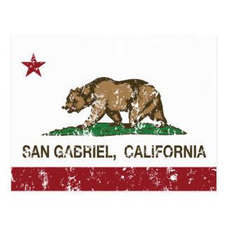 Kalifornien-Staats-Flagge San Gabriel Postkarte