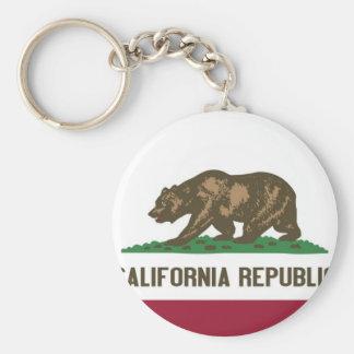 Kalifornien-Staats-Flagge Standard Runder Schlüsselanhänger